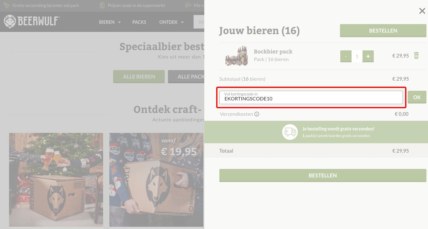Beerwulf kortingscode gebruiken