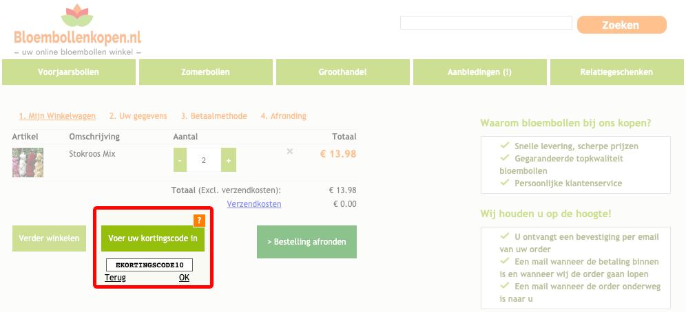 Bloembollenkopen.nl kortingscode gebruiken