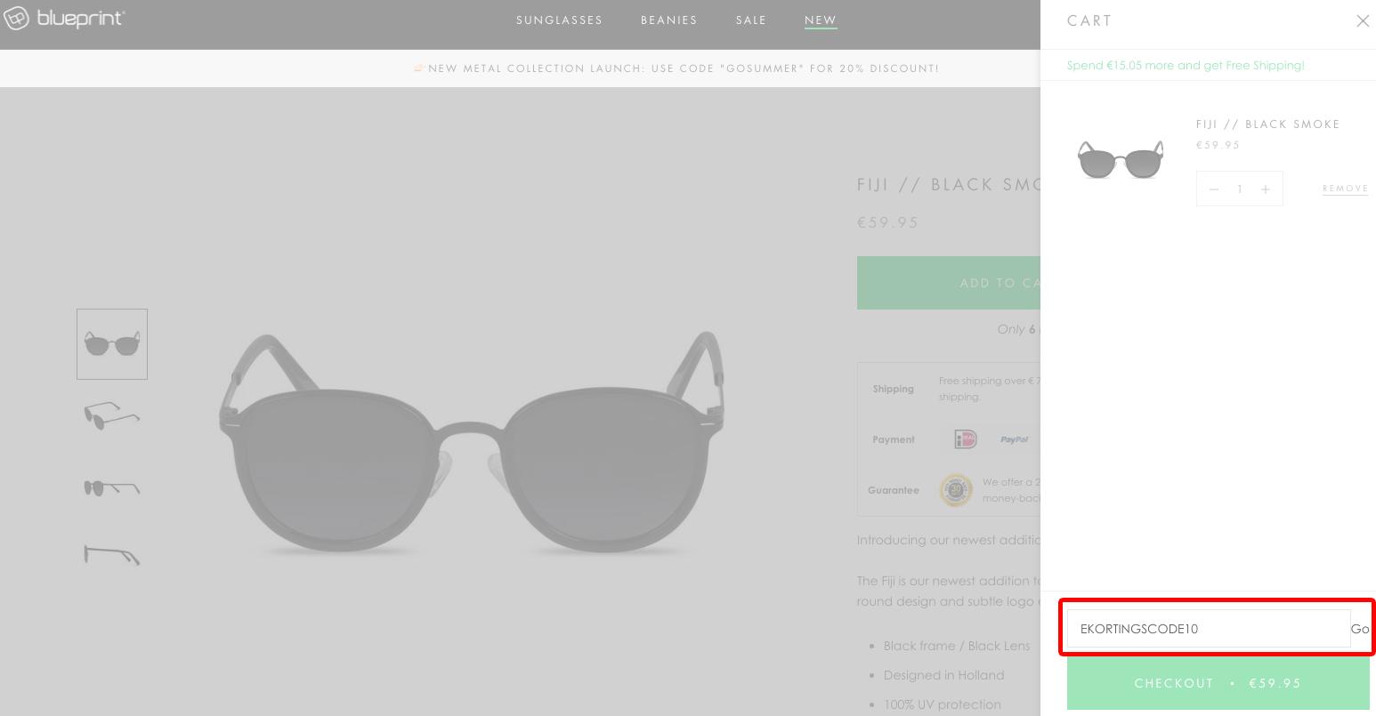 Blueprint Eyewear kortingscode gebruiken