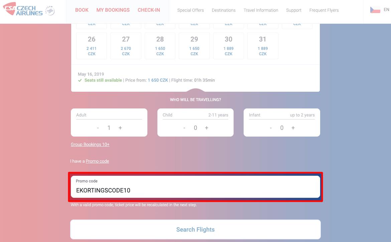 Czech Airlines kortingscode gebruiken