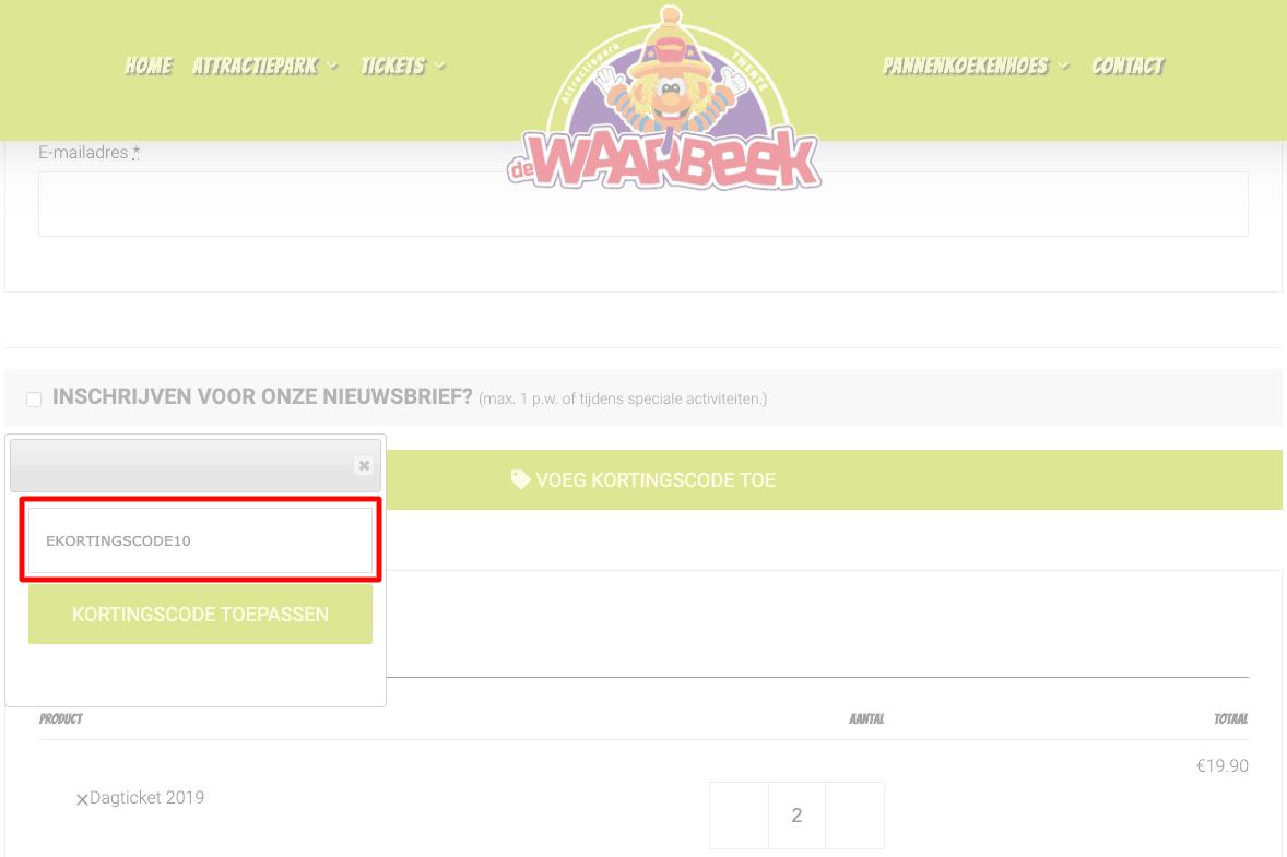 De Waarbeek kortingscode gebruiken