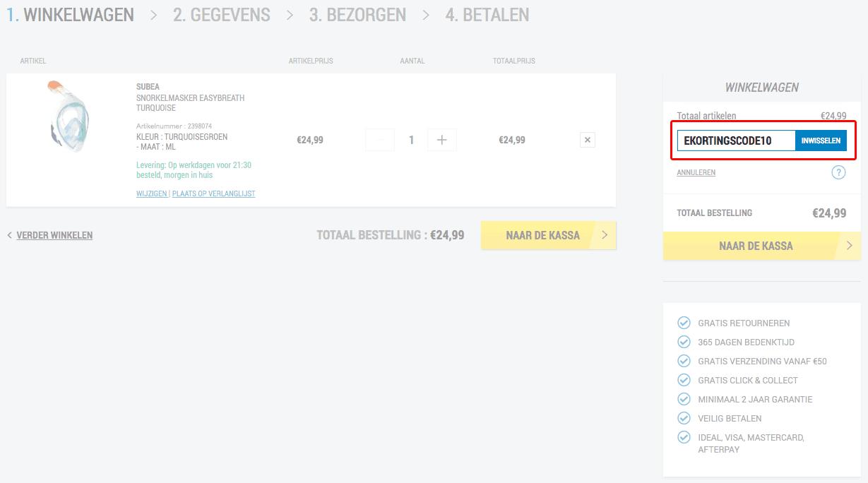 Decathlon kortingscode gebruiken