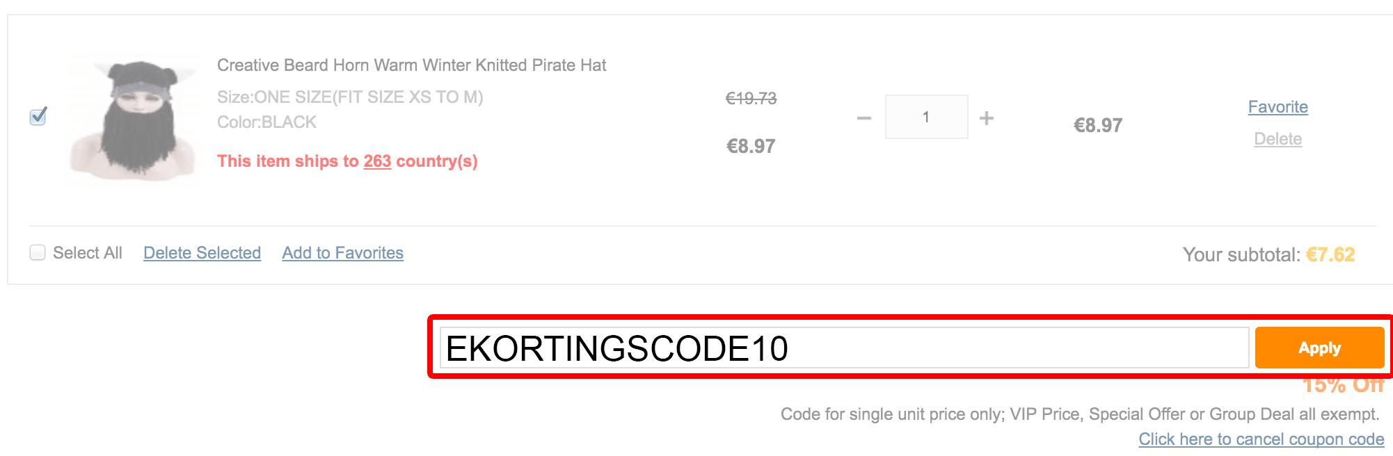 GearBest kortingscode gebruiken