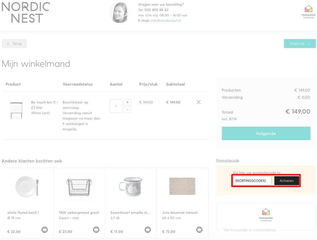 Nordic Nest kortingscode gebruiken