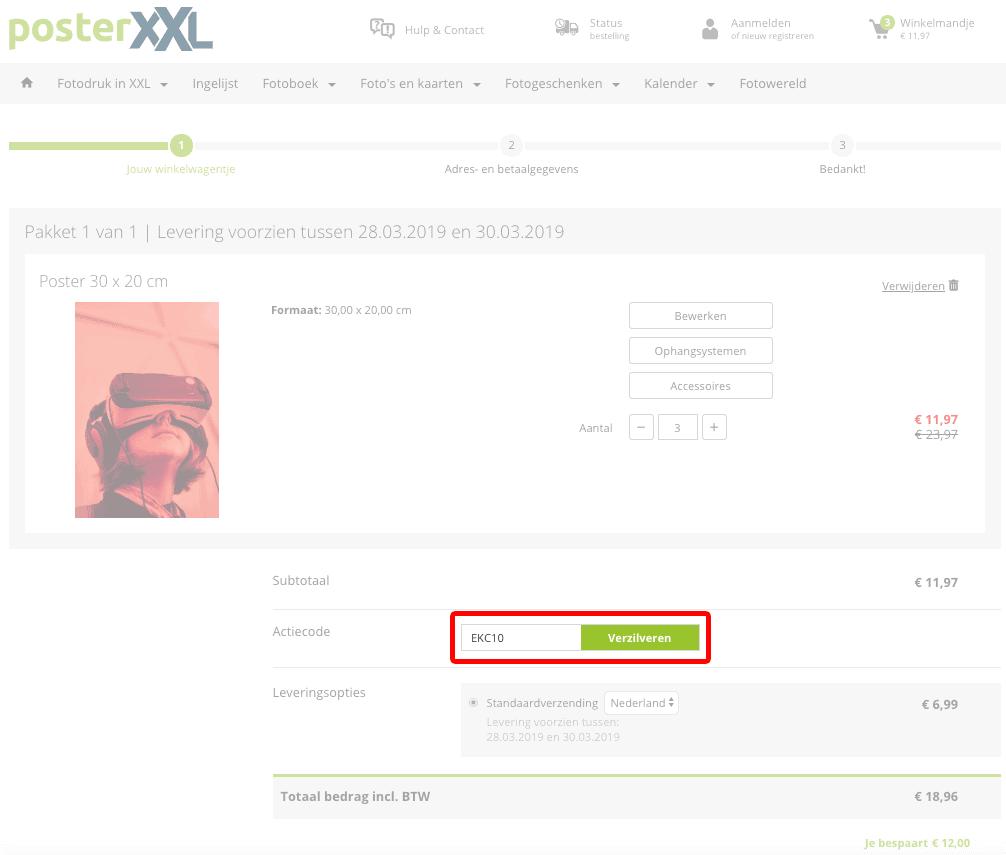 PosterXXL kortingscode gebruiken