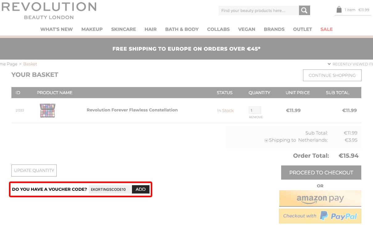 Revolution Beauty kortingscode gebruiken