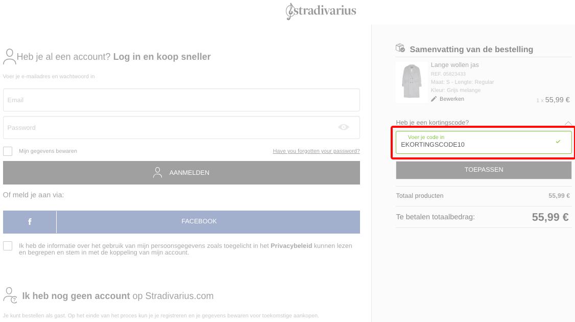 Stradivarius kortingscode gebruiken