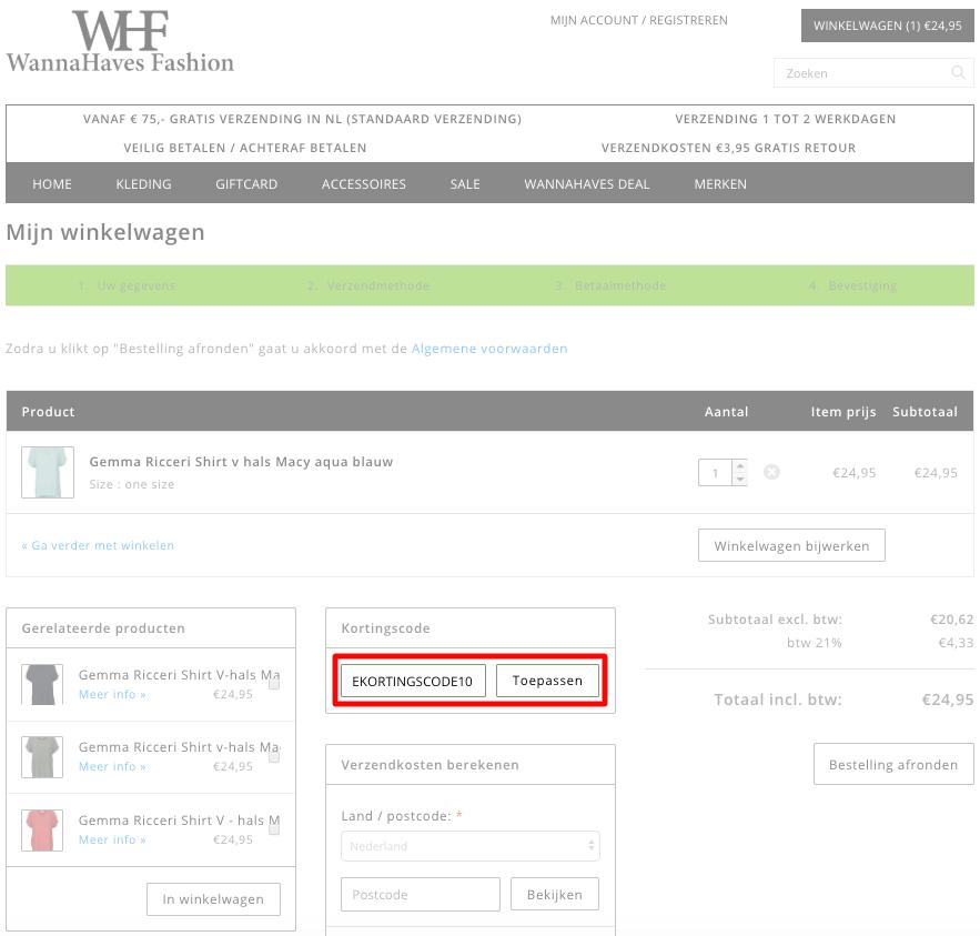 WannaHaves Fashion kortingscode gebruiken